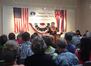 Brian Schatz at Hawai'i County Democratic Party